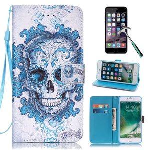 Iphone 6 skull flip phone case